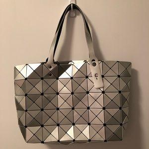 Geometric tiled tote bag handbag purse
